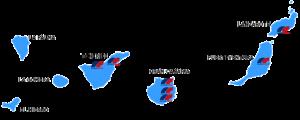 mapa canarias y puntos