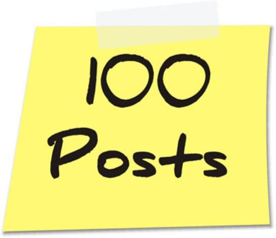 100 Posts publicados