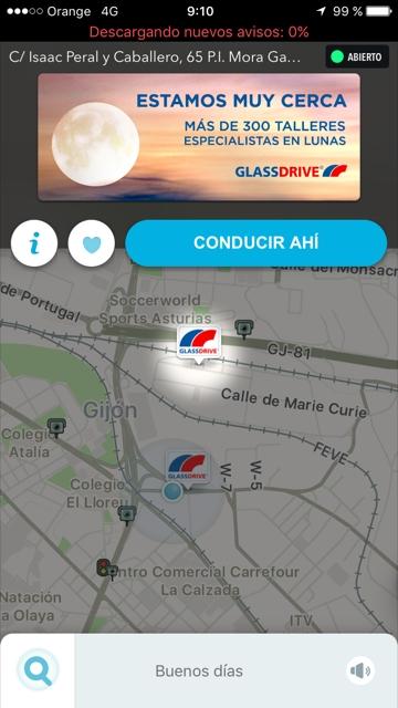 Glassdrive en Waze